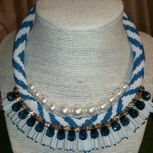 Tory Burch Beaded Pearl Statement Necklace